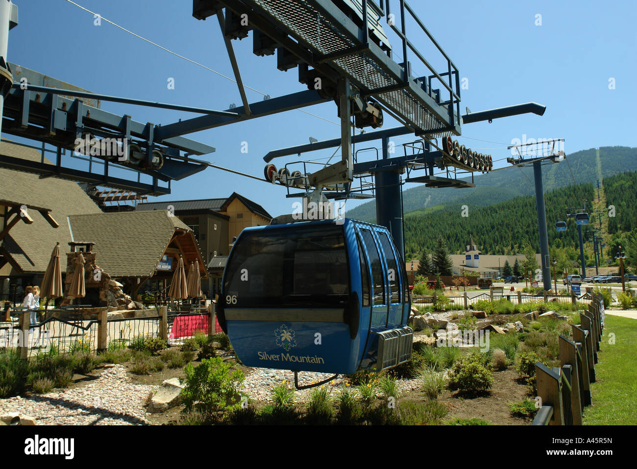 ajd56263, kellogg, id, idaho, silver mountain resort, gondola stock
