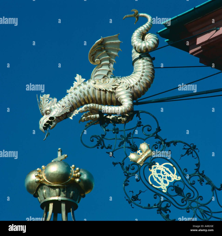 Dragon figure / Bruchsal - Stock Image