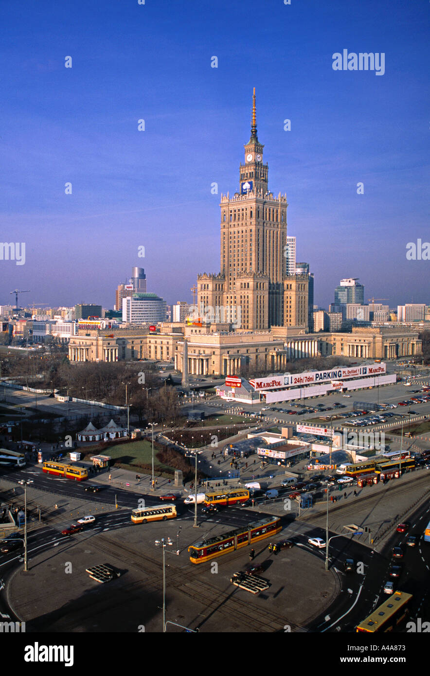 Palace of Culture, Warsaw, Poland - Stock Image