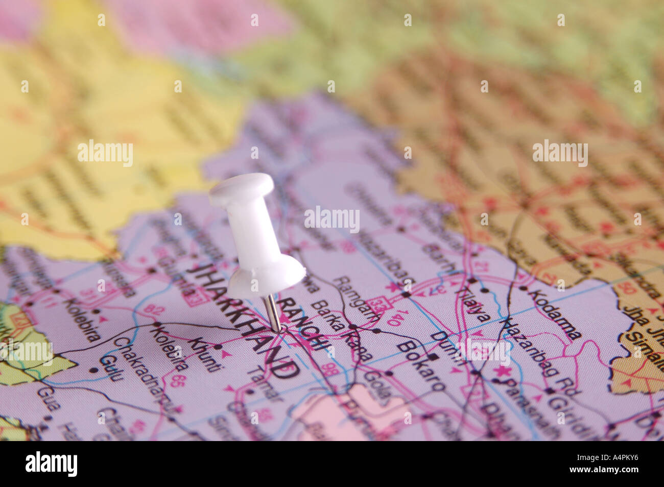 Ranchi In India Map.Ang77818 Map Of India Spotted Ranchi Capital Of Jharkhand By White