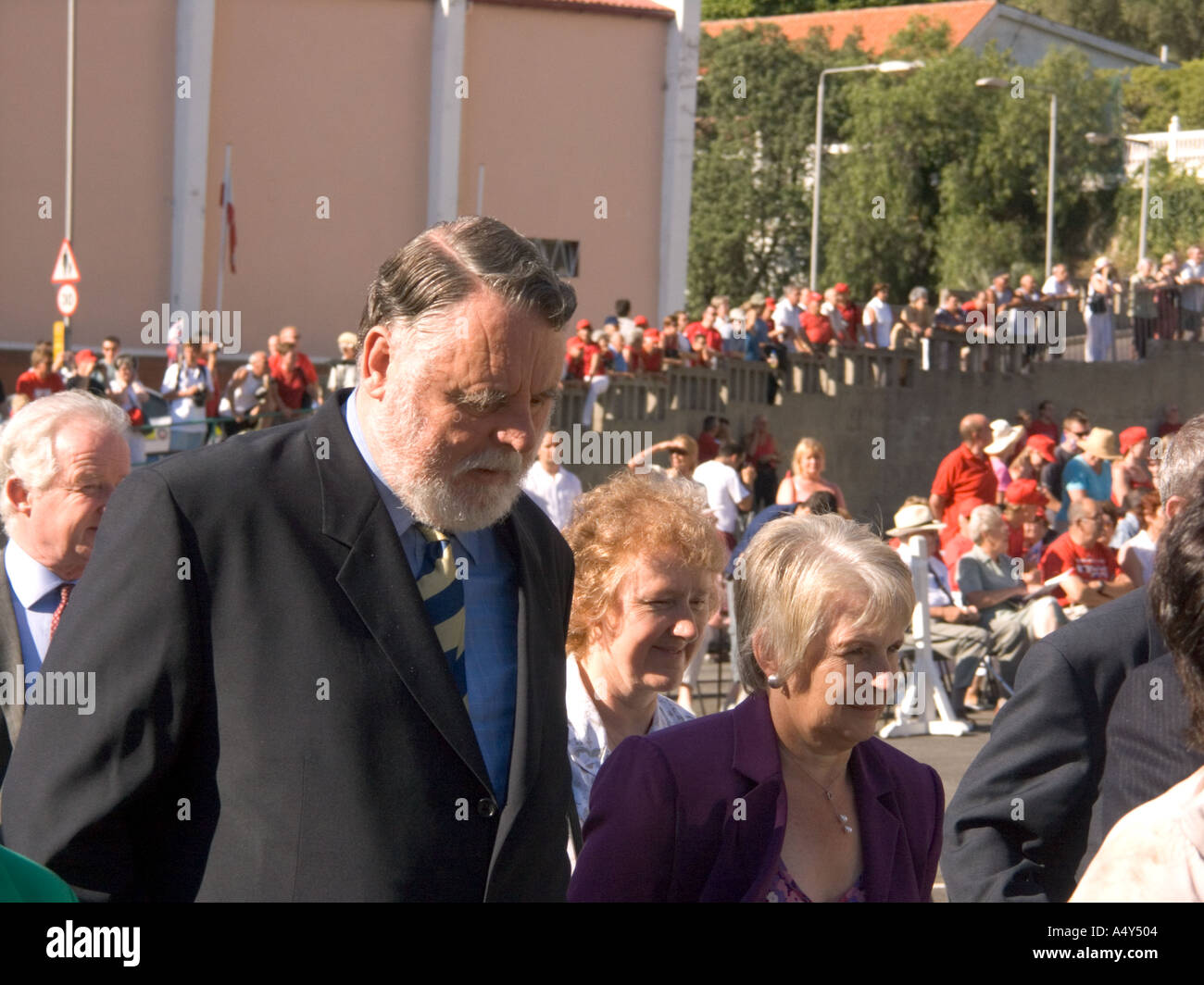 International mediator Terry Waite, an invited guest, attending the Honorary Freedom of the City of Gibraltar ceremony - Stock Image