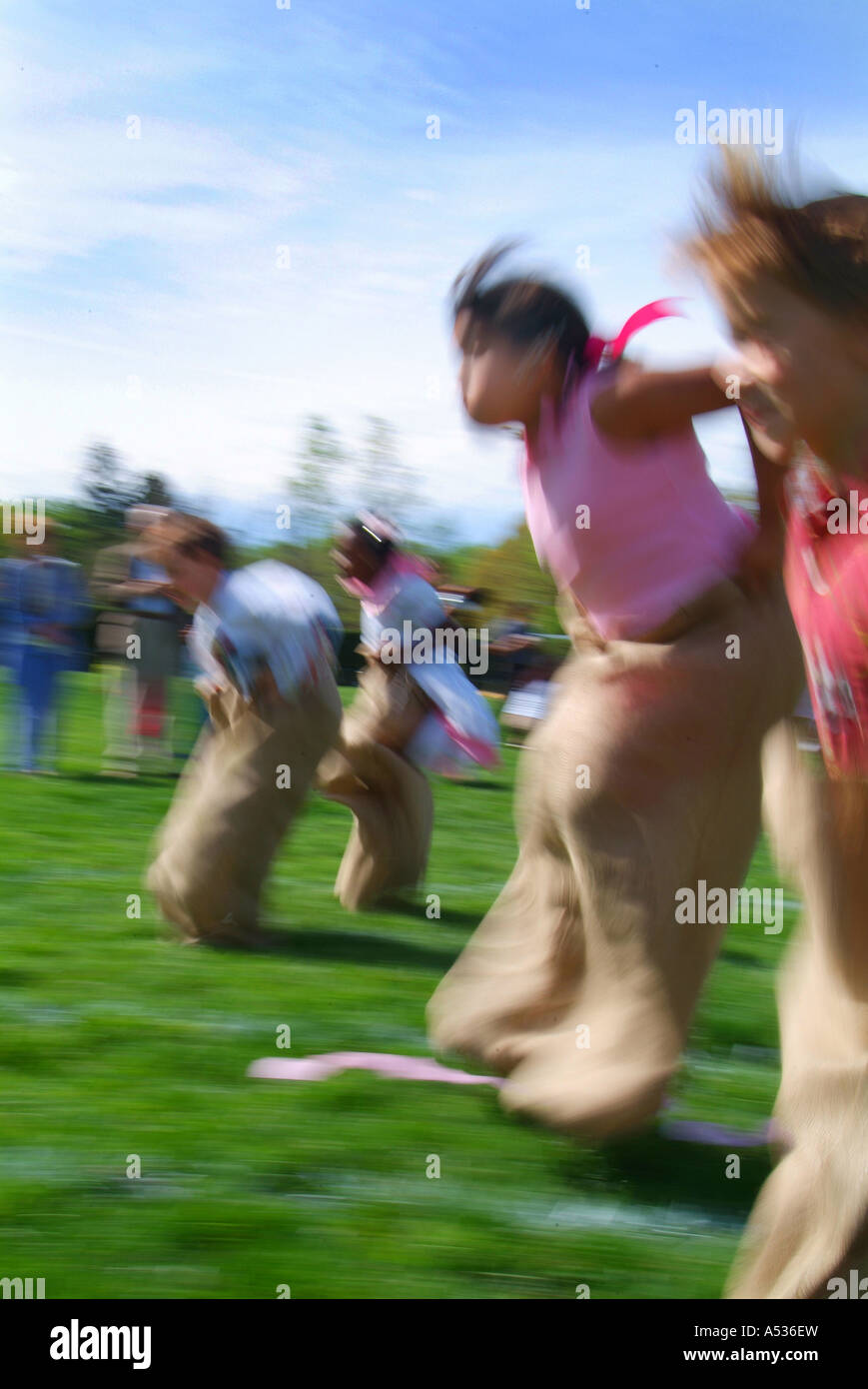 elementary-school-spring-field-day-sack-race-A536EW.jpg
