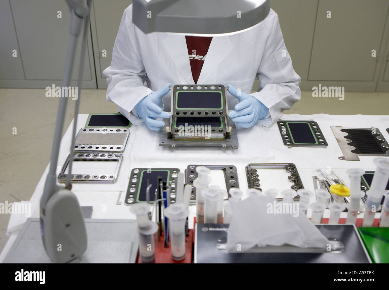 Production of fuel cell stacks, Juelich, Germany - Stock Image