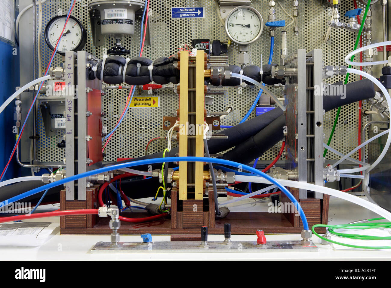 Fuel cell tests at the research center in Juelich, Germany - Stock Image