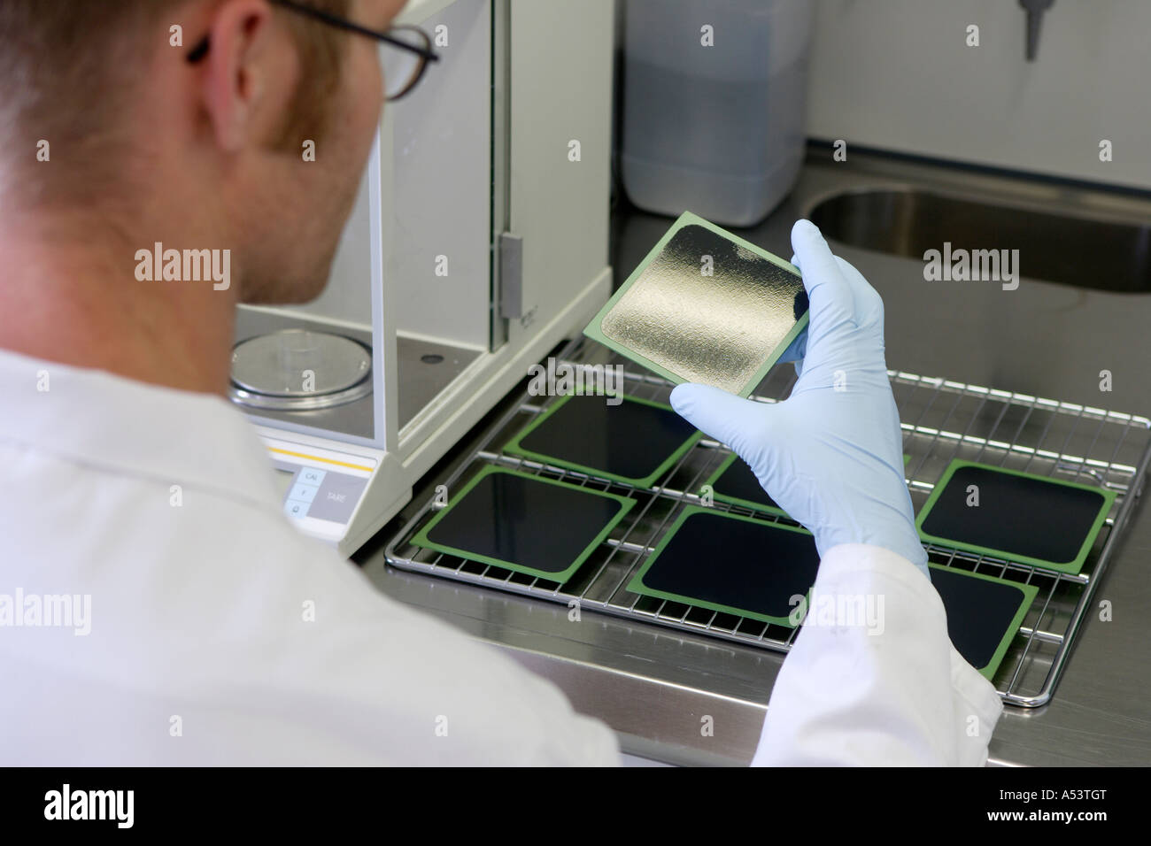 Fuel cell production at the research center in Juelich, Germany - Stock Image