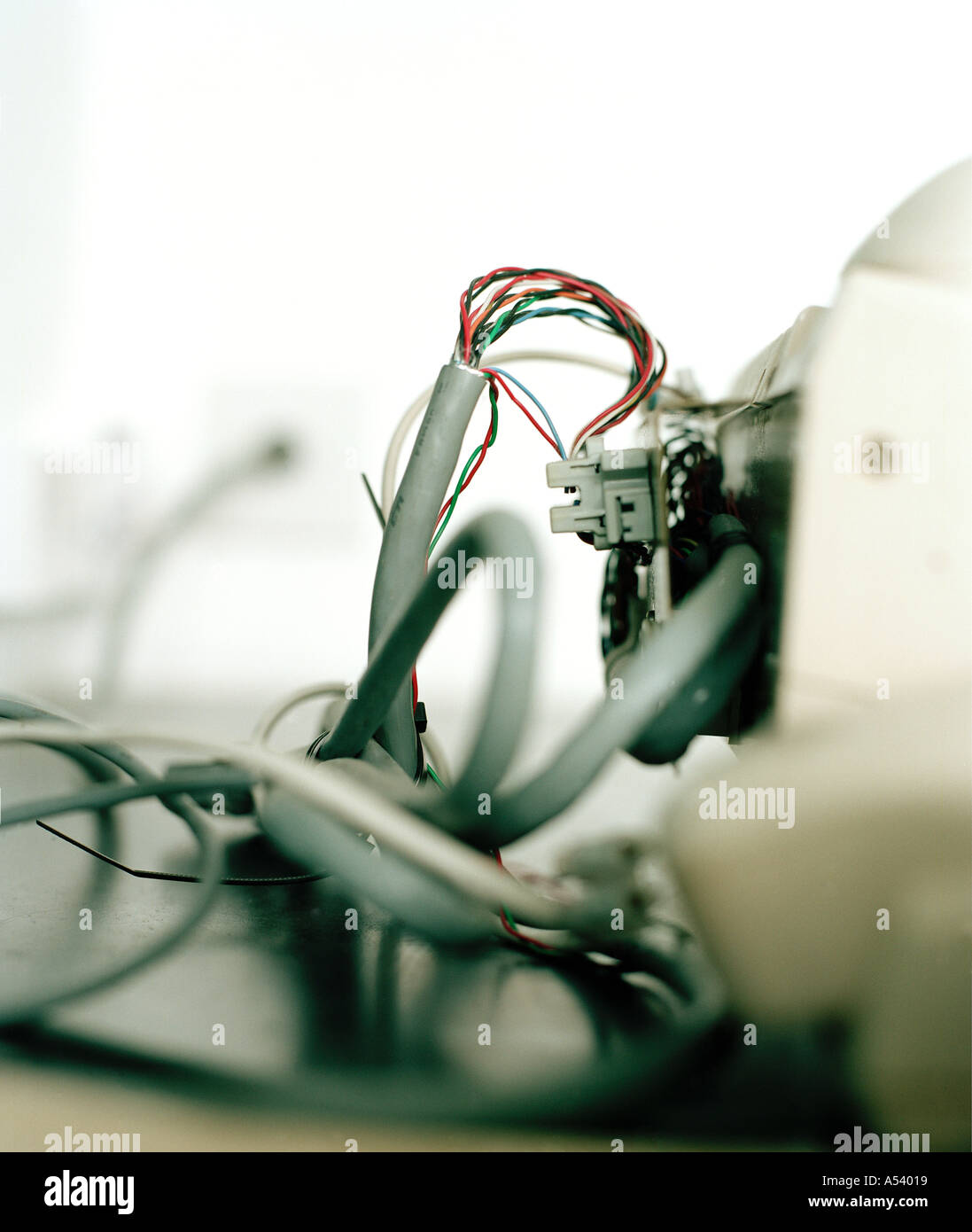 electric wires - Stock Image