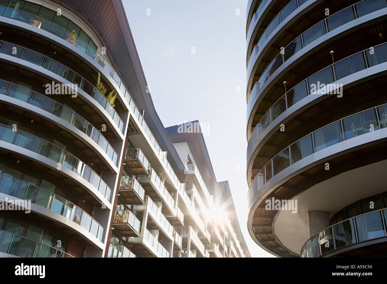 Modern apartment buildings - Stock Image