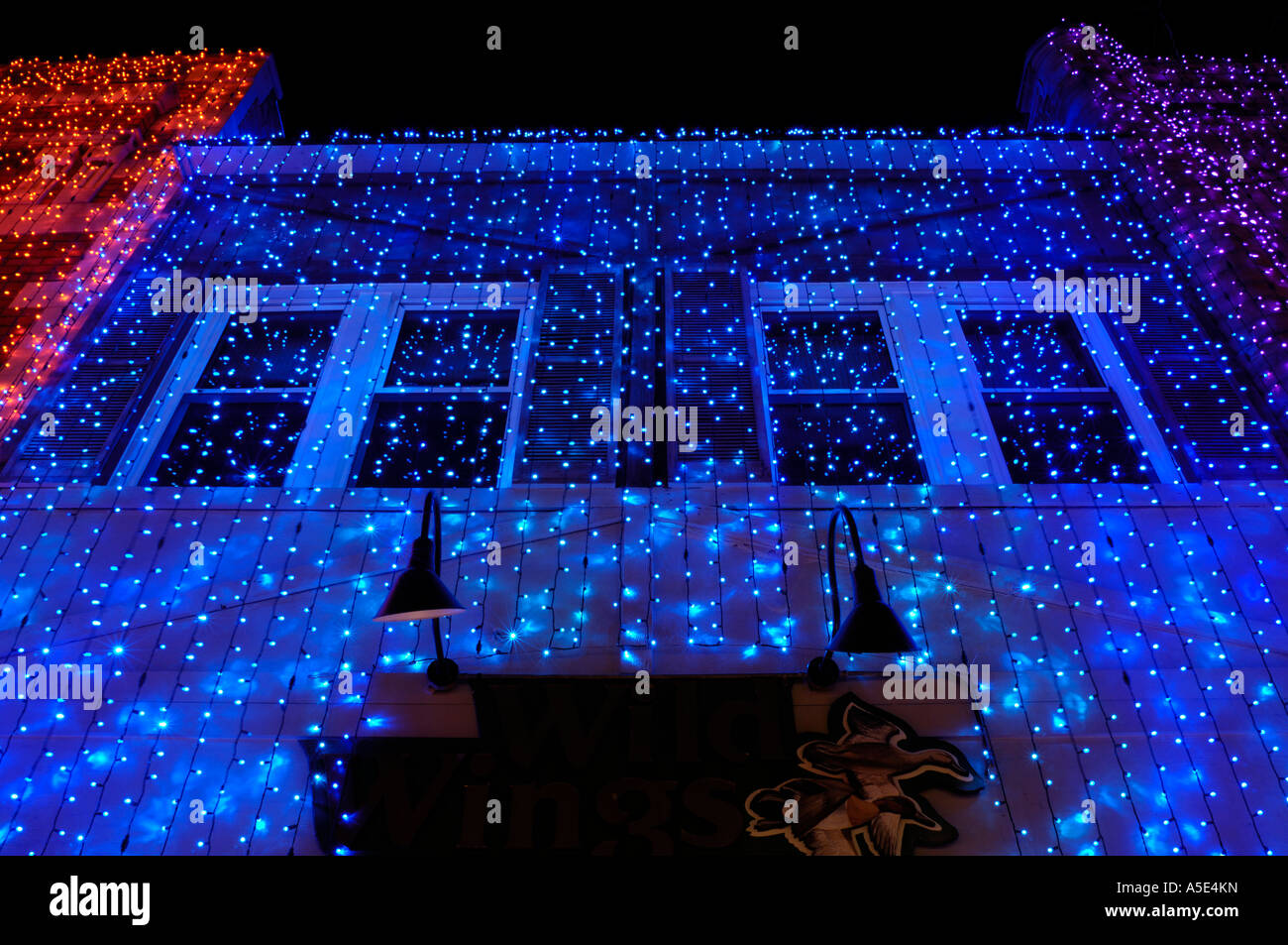 Christmas Lights On A Building During The Big Bright Lights Show In  Rochester Michigan USA