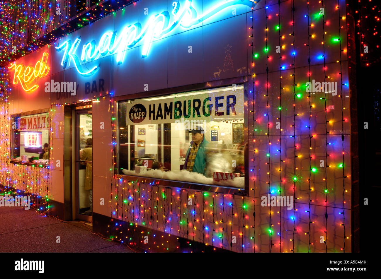 Christmas Lights On A Restaurant During The Big Bright Lights Show In  Rochester Michigan USA