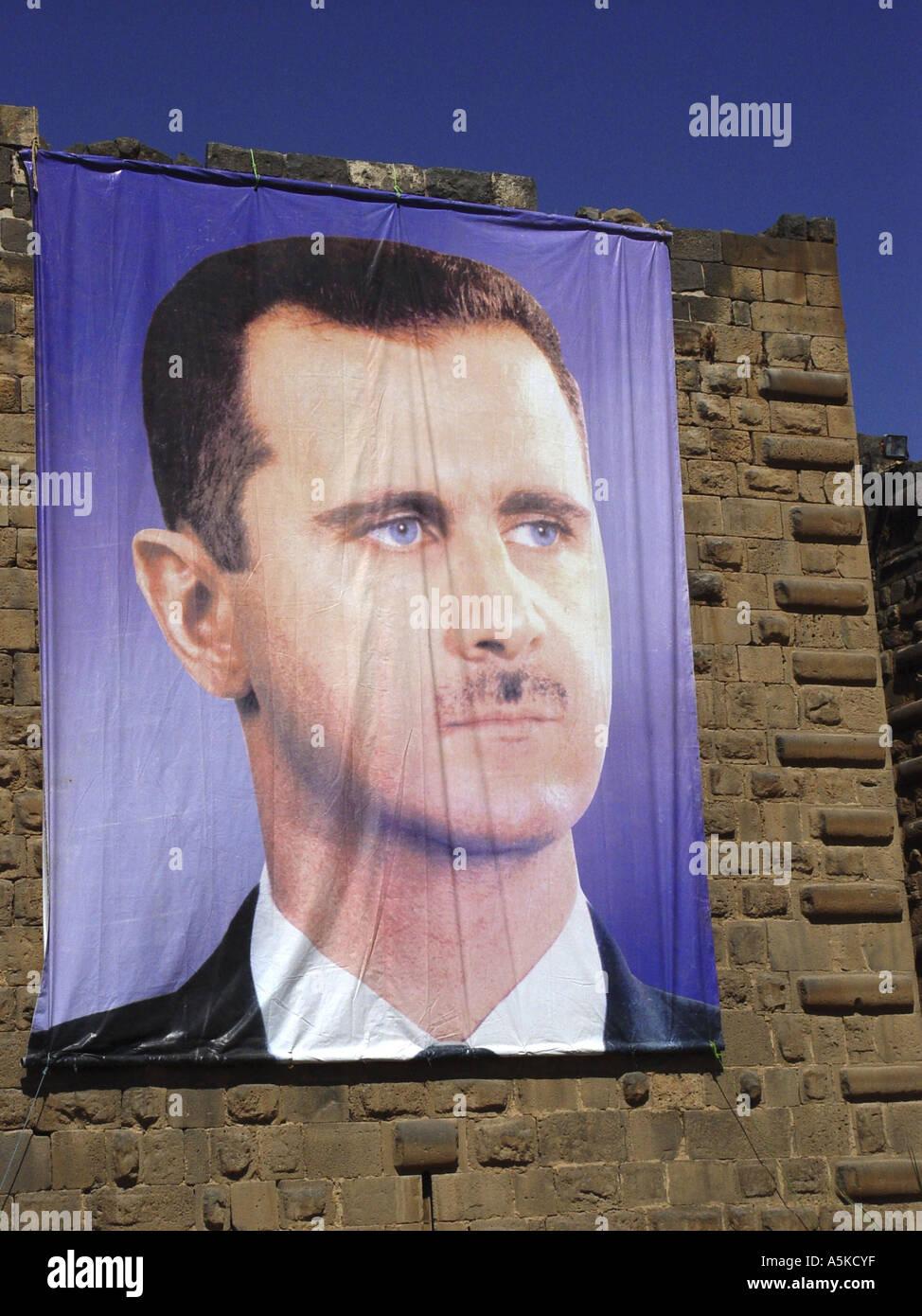 Baschar Hafiz al-Assad president of syria - Stock Image