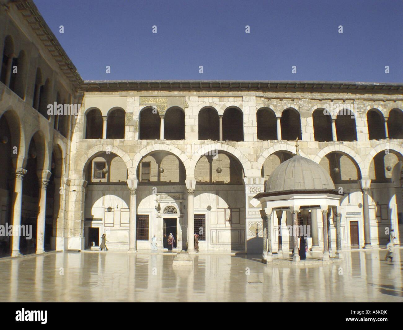 Omayyaden mosque in damascus - Stock Image