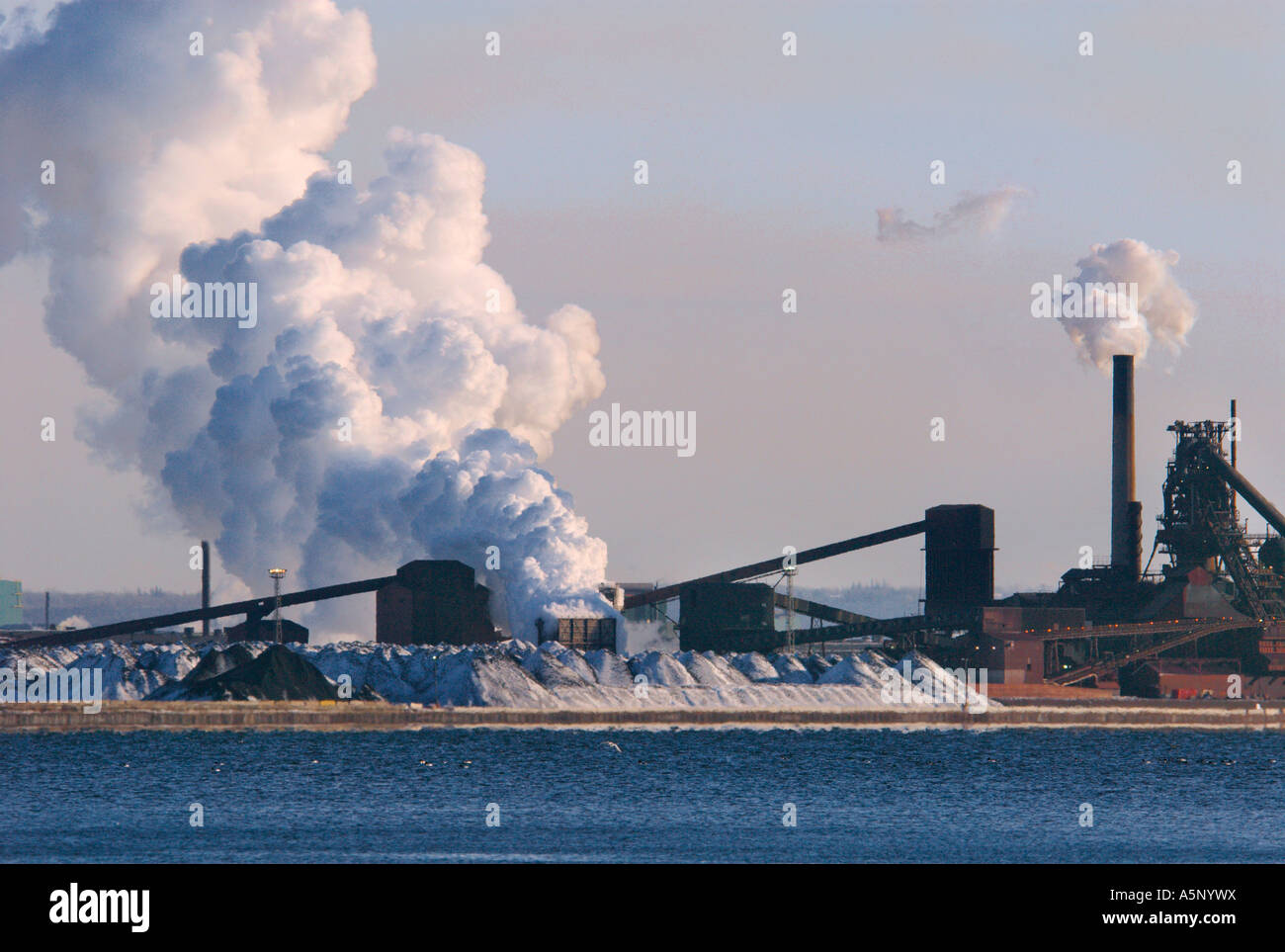 Industry carbon dioxide emission and pollution - Stock Image