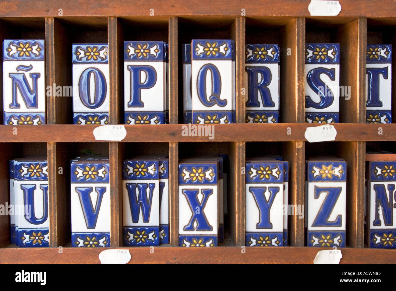 Ceramic tiles with letters Stock Photo: 3719556 - Alamy