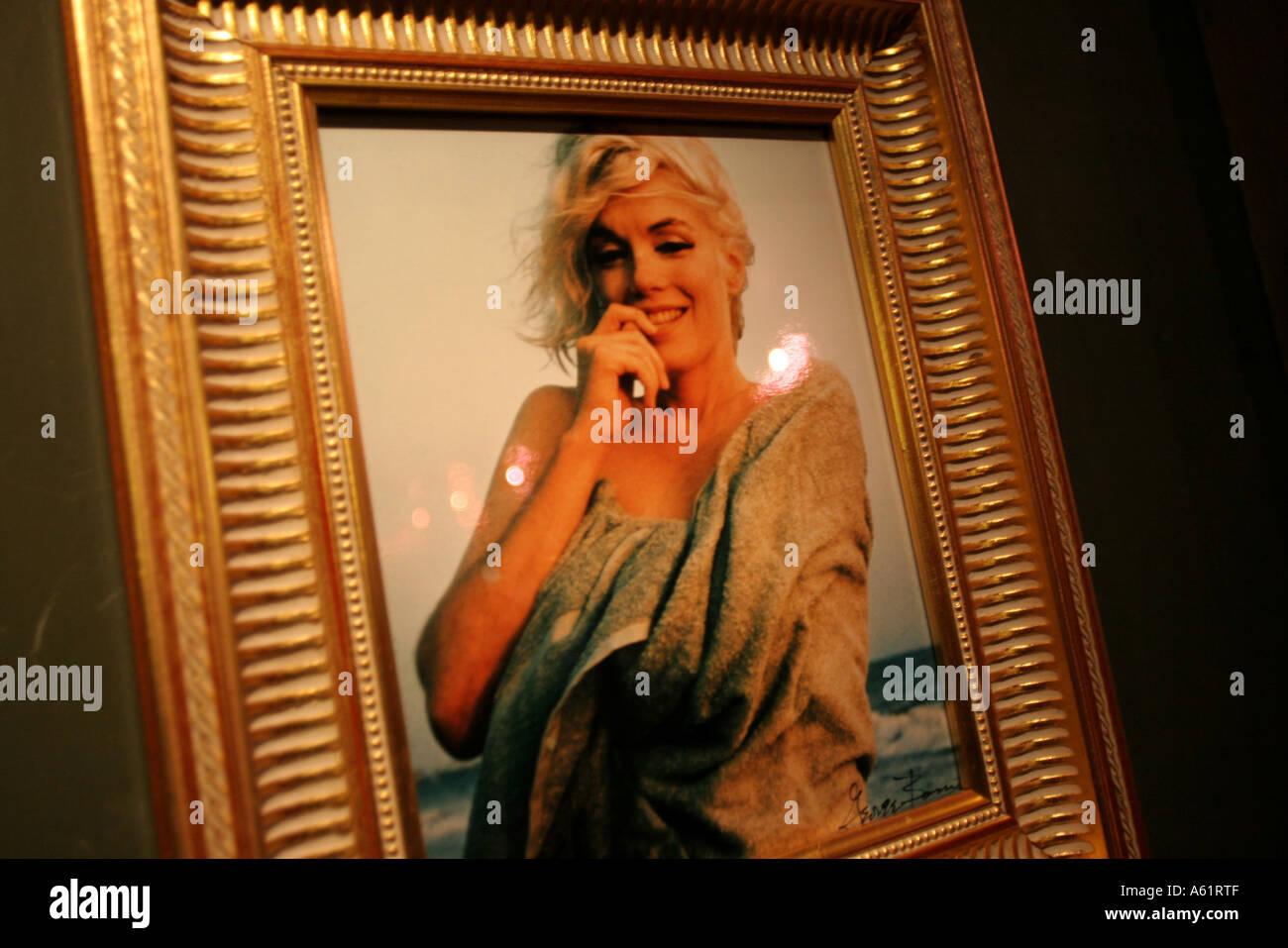 Marilyn Monroe portrait Museo Nazionale del Cinema Turin Piedmont Italy - Stock Image