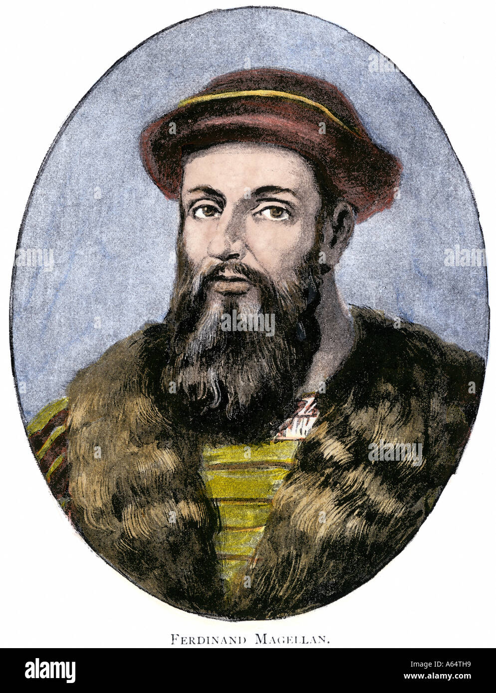 Portuguese explorer Ferdinand Magellan whose expedition first circumnavigated the globe 1519 to 1521 - Stock Image