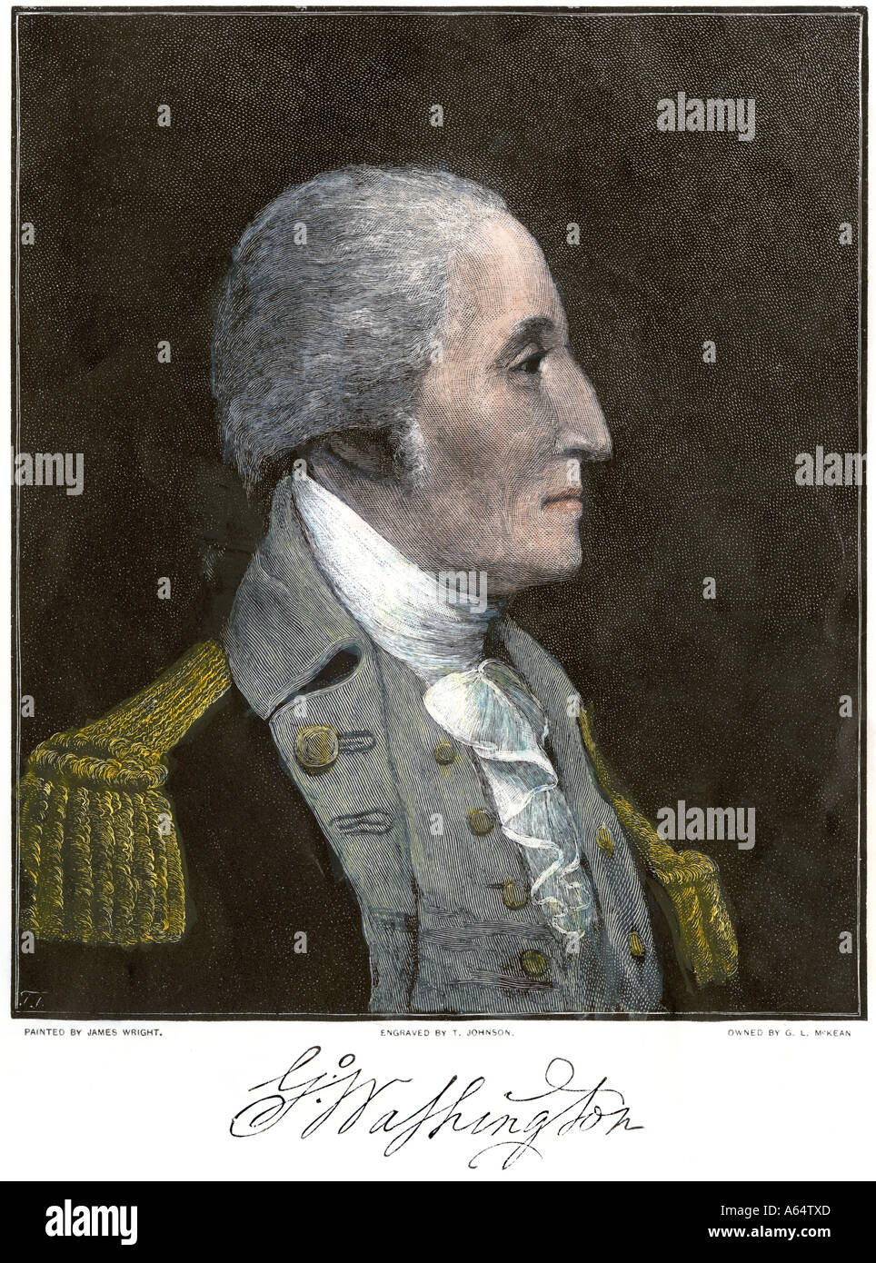 General George Washington profile - Stock Image