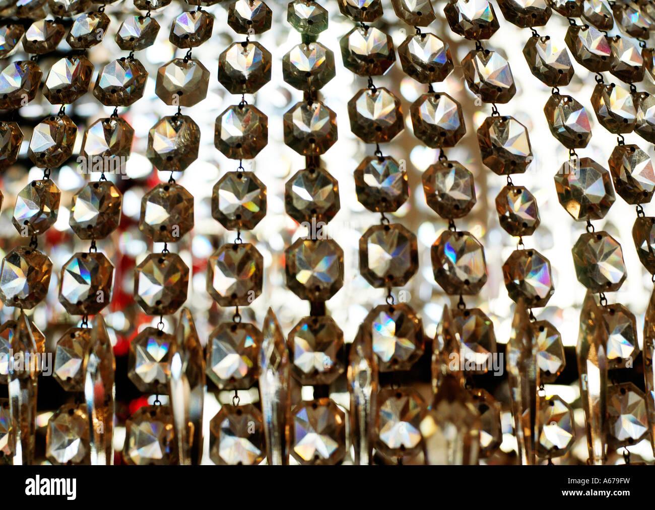 crystal beads - Stock Image