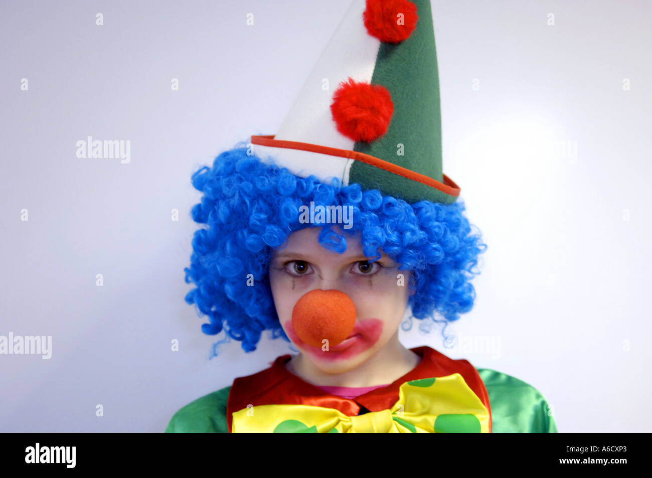 Carnival Karneval Clown Kid Girl Youth Female Lass Funny Humour
