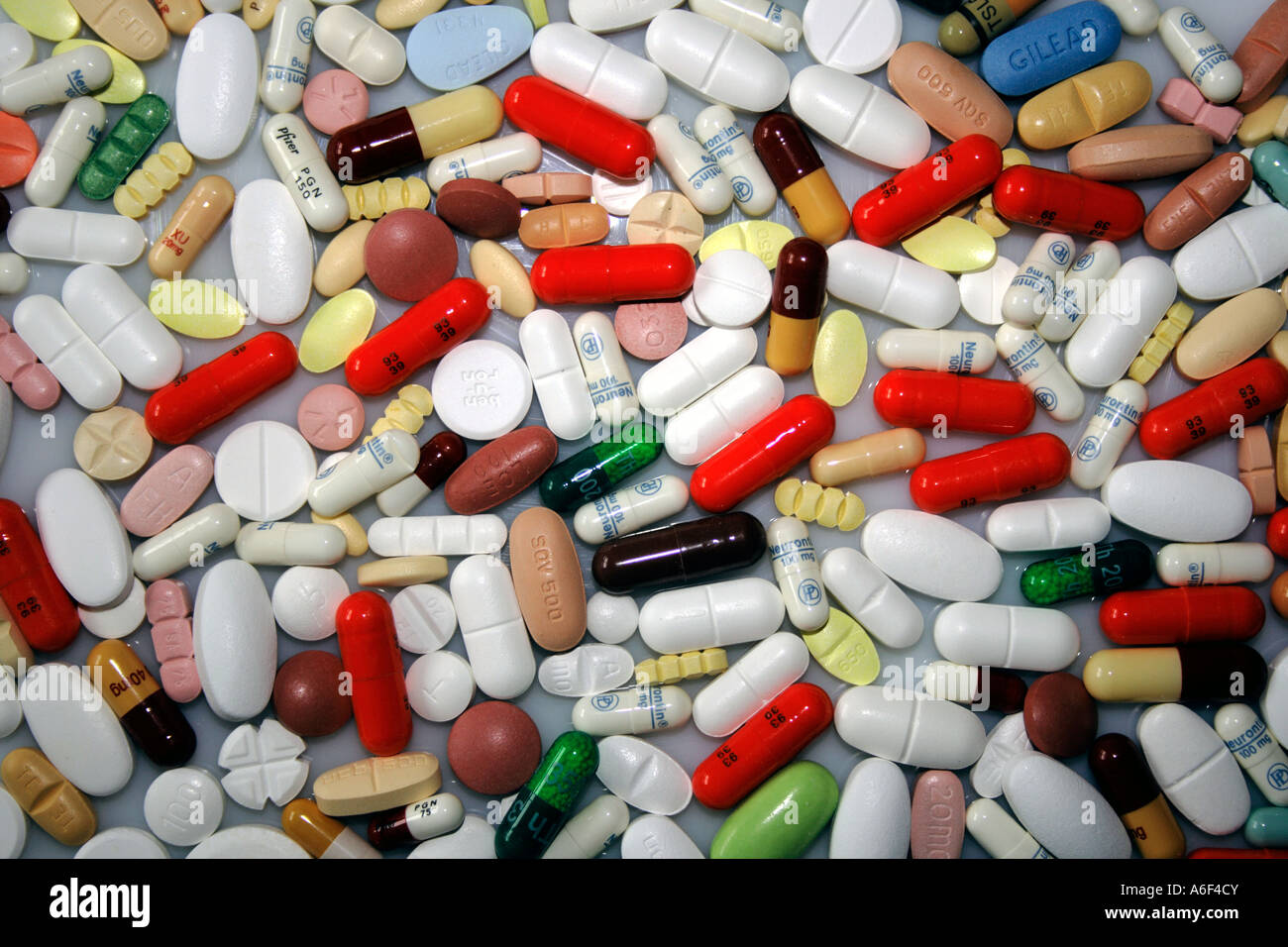 Close up of many pills. Photo by Willy Matheisl - Stock Image