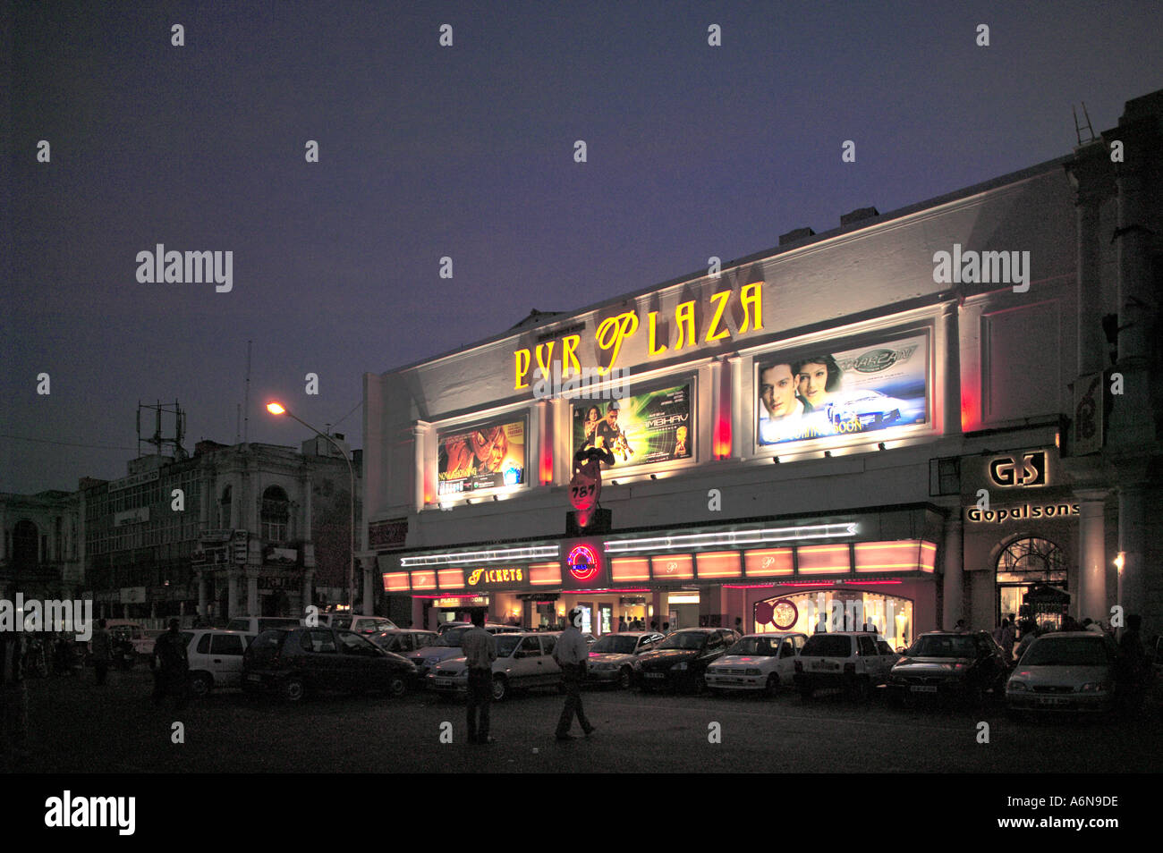 Plaza Cinema Connaught Place New Delhi India - Stock Image