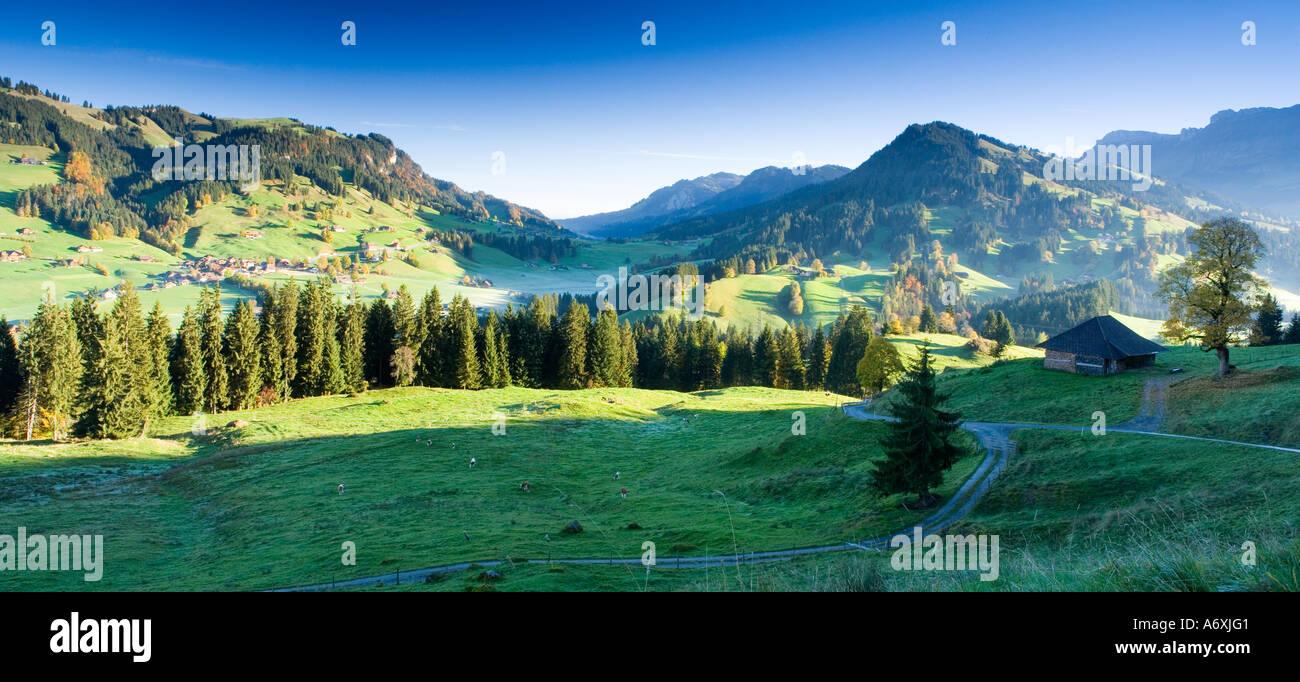 Switzerland Berner Oberland Morning landscape - Stock Image