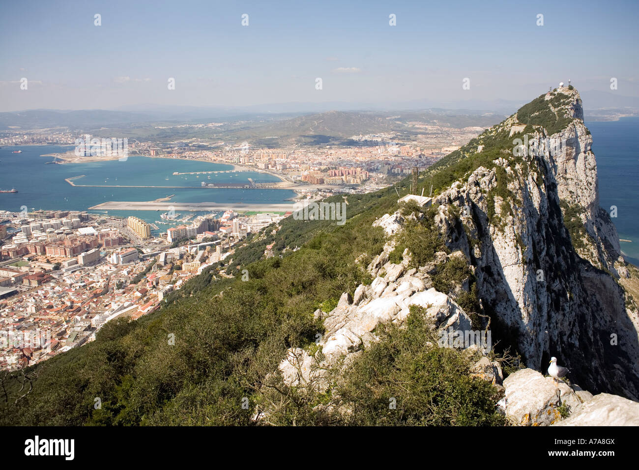 The Summit of the Rock of Gibraltar - Stock Image