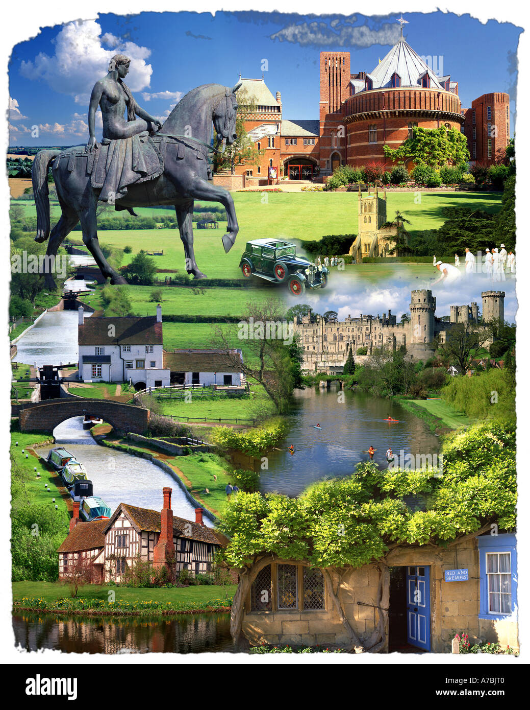 GB - HEART OF ENGLAND: Shakespeare Country Concept - Stock Image