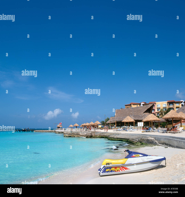 Beach near Hotel Fiesta Americana, Cancun, Quintana Roo, Yucatan Peninsula, Mexico - Stock Image