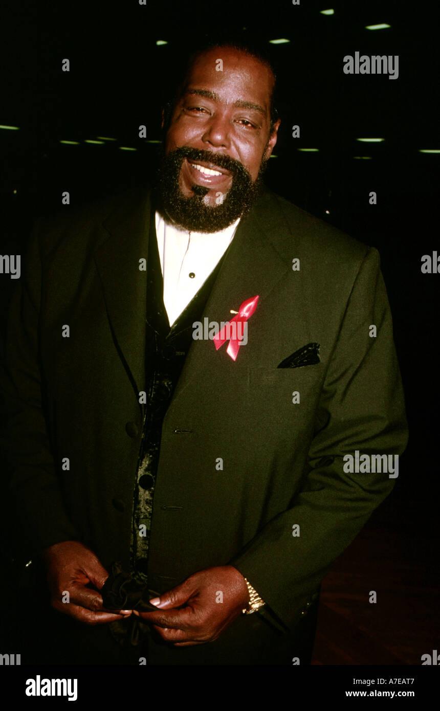 BARRY WHITE US Soul singer - Stock Image