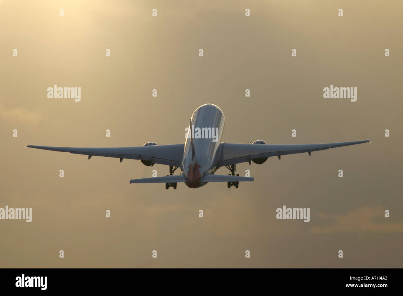 Airplane taking off - Stock Image