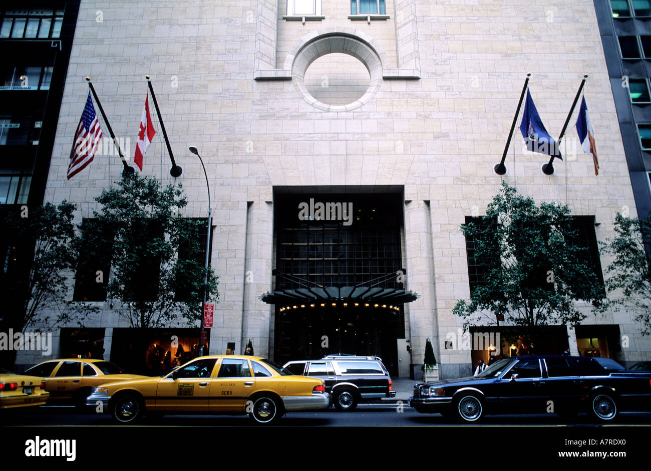 United States, New York, Manhattan, Midtown, 57 street, le Four Seasons (architect I Ming Pei) Stock Photo
