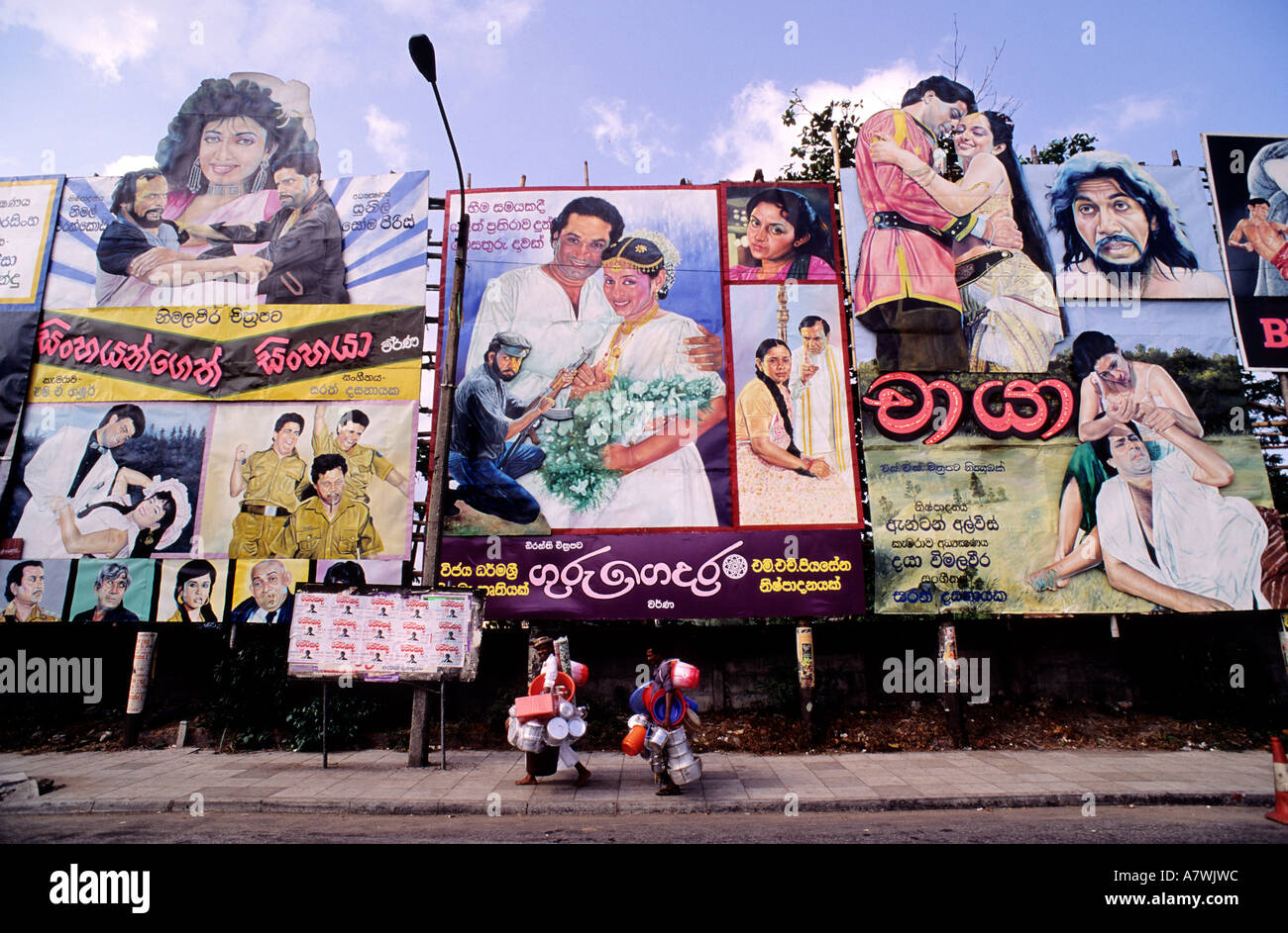 Sri Lanka, Colombo, cinema posters - Stock Image