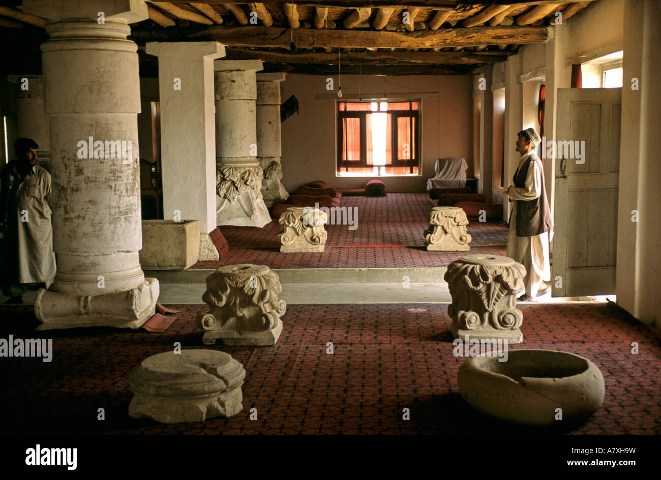 Afghanistan, Ai Khanum, Khojo boudi Tea House where looted artifacts were collected and secured Stock Photo