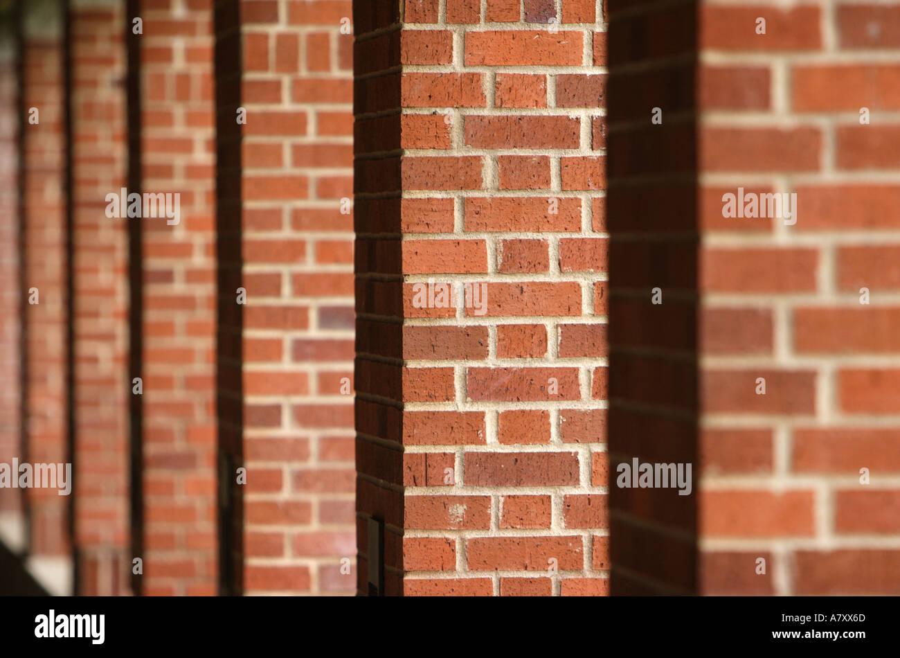 Brick Pillars - Stock Image