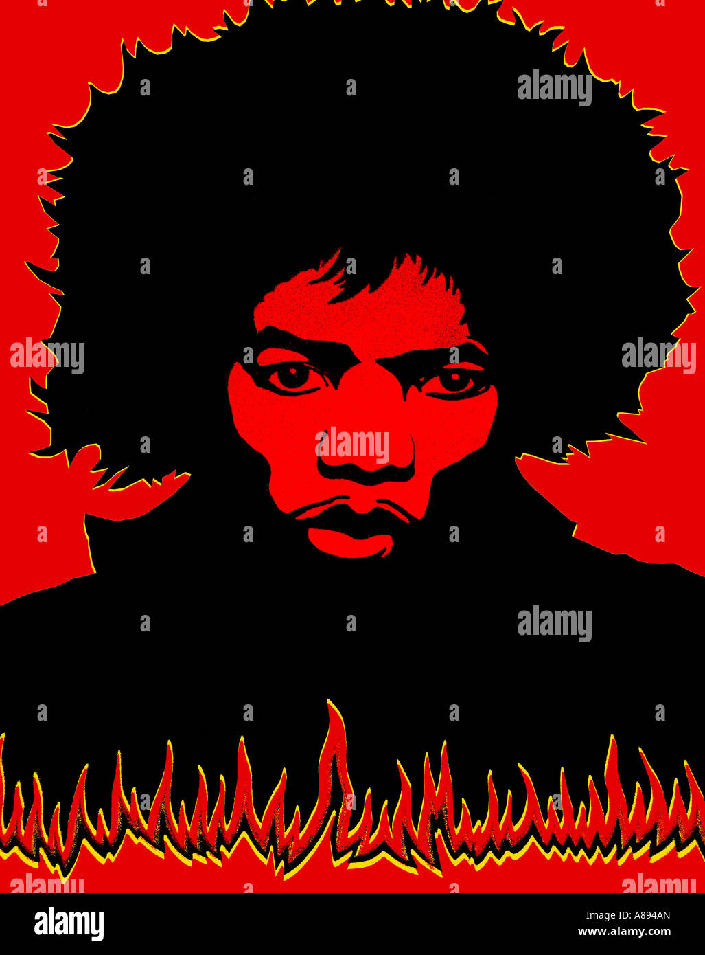 Jimi Hendrix Poster From The 1960s
