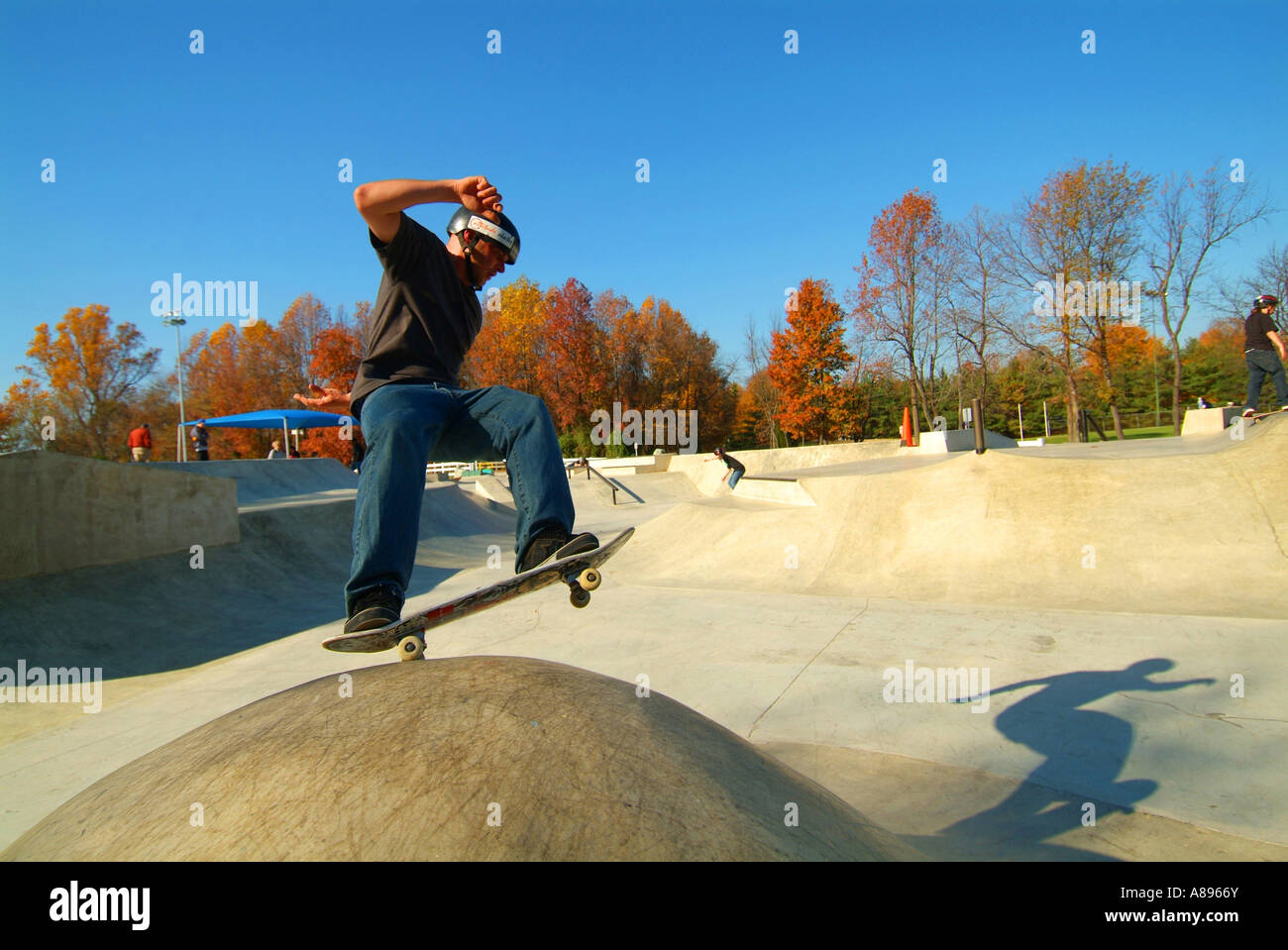 USA Maryland skate park in Bowie MD Prince Georges County Stock Photo