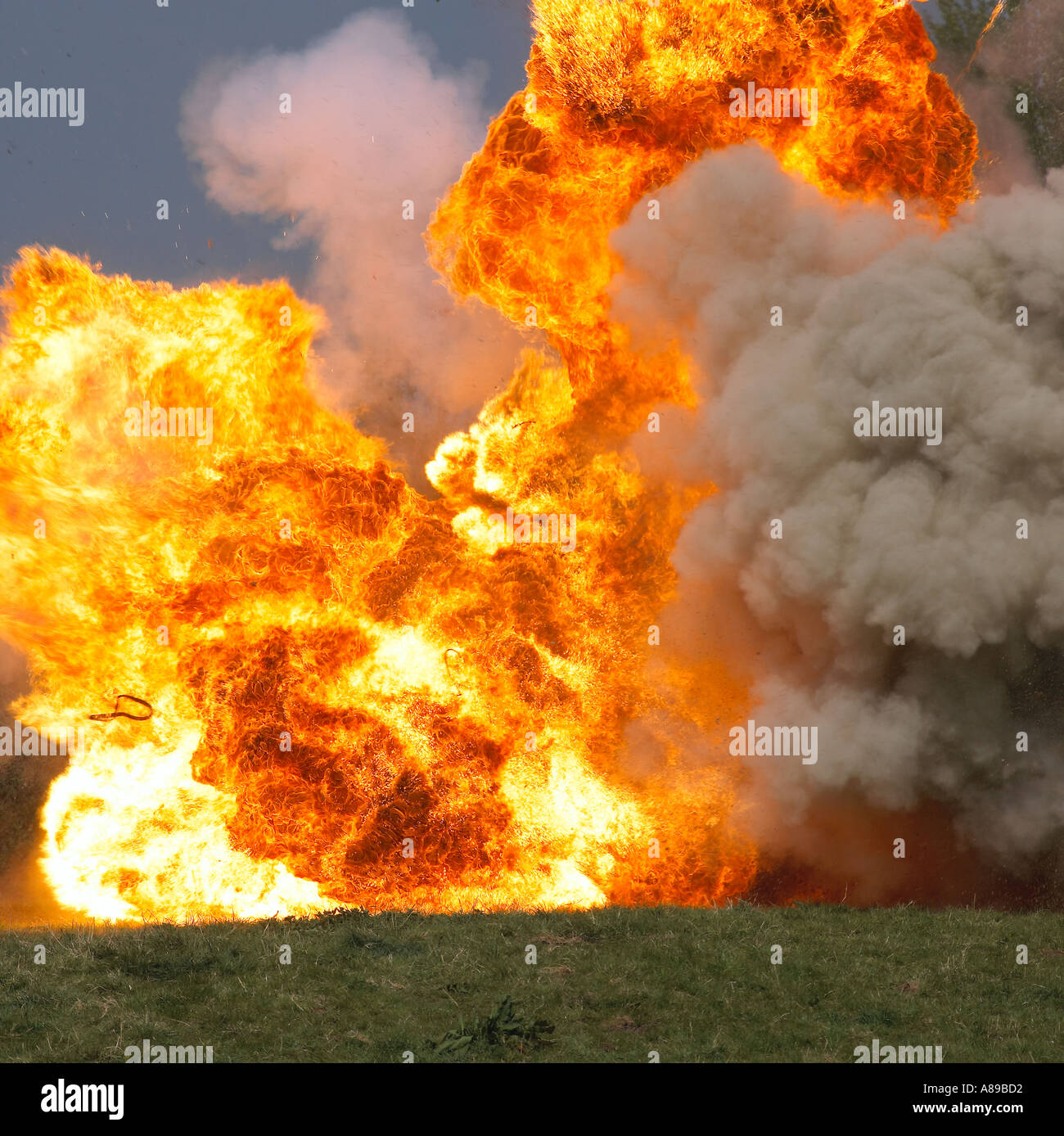 Car explosion - Stock Image