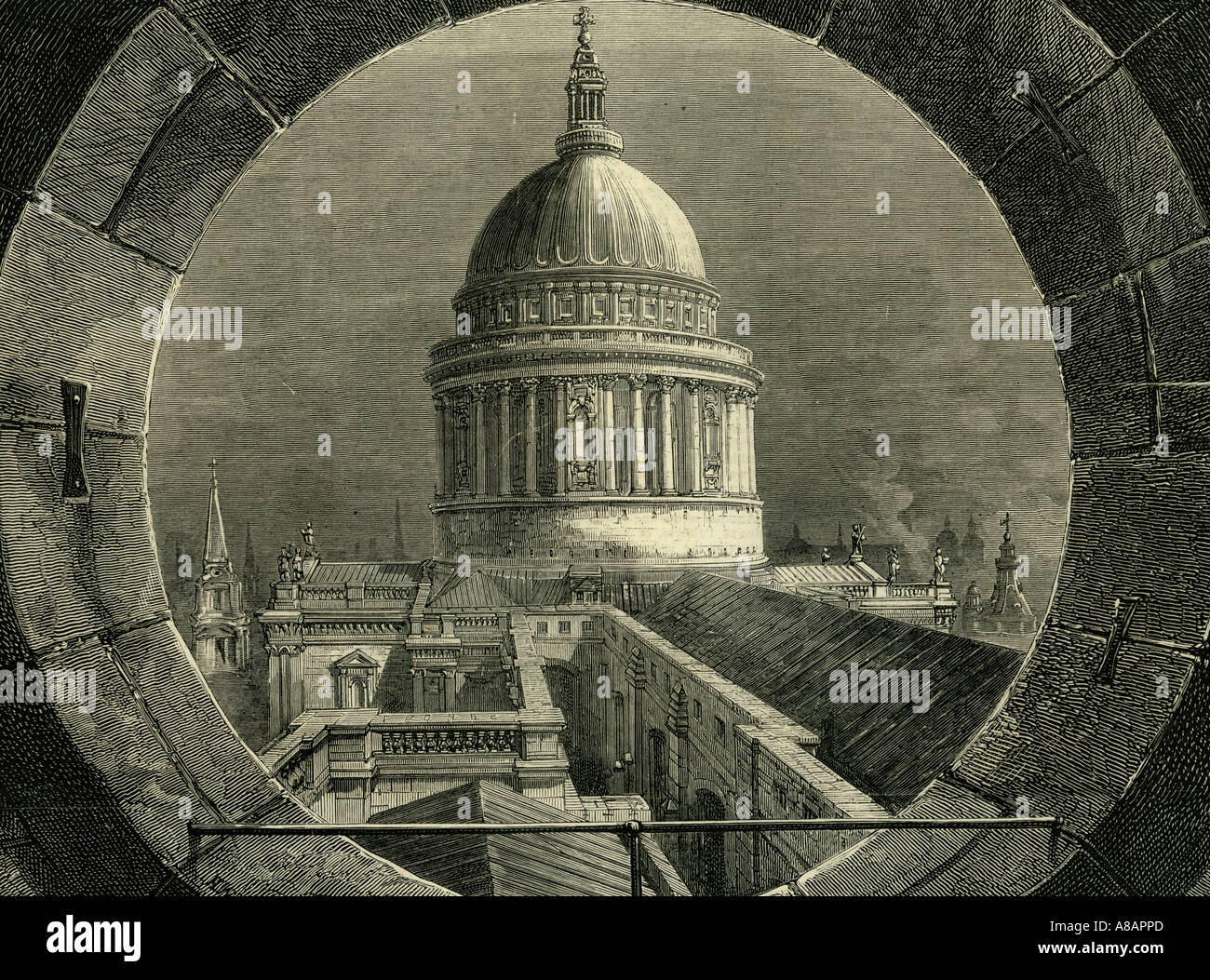 ST. Paul London, 1878 Stock Photo