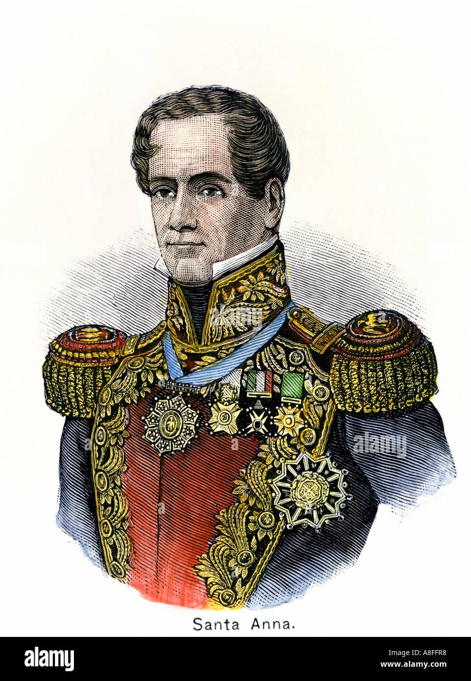 Mexican General Antonio Lopez de Santa Anna - Stock Image
