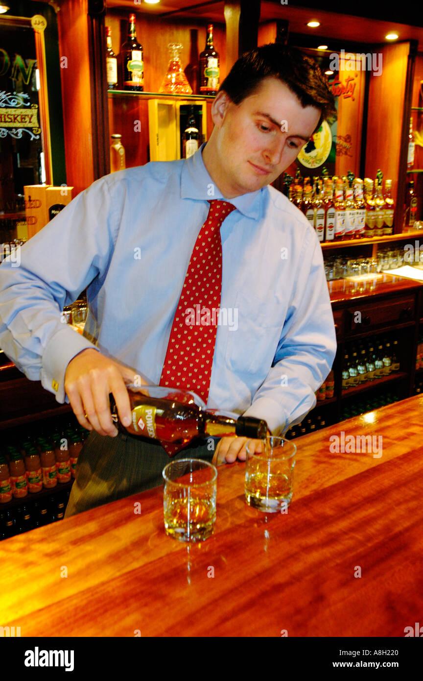 Ireland, County Cork, Old Midleton Distillery, Whiskey tasting Stock Photo