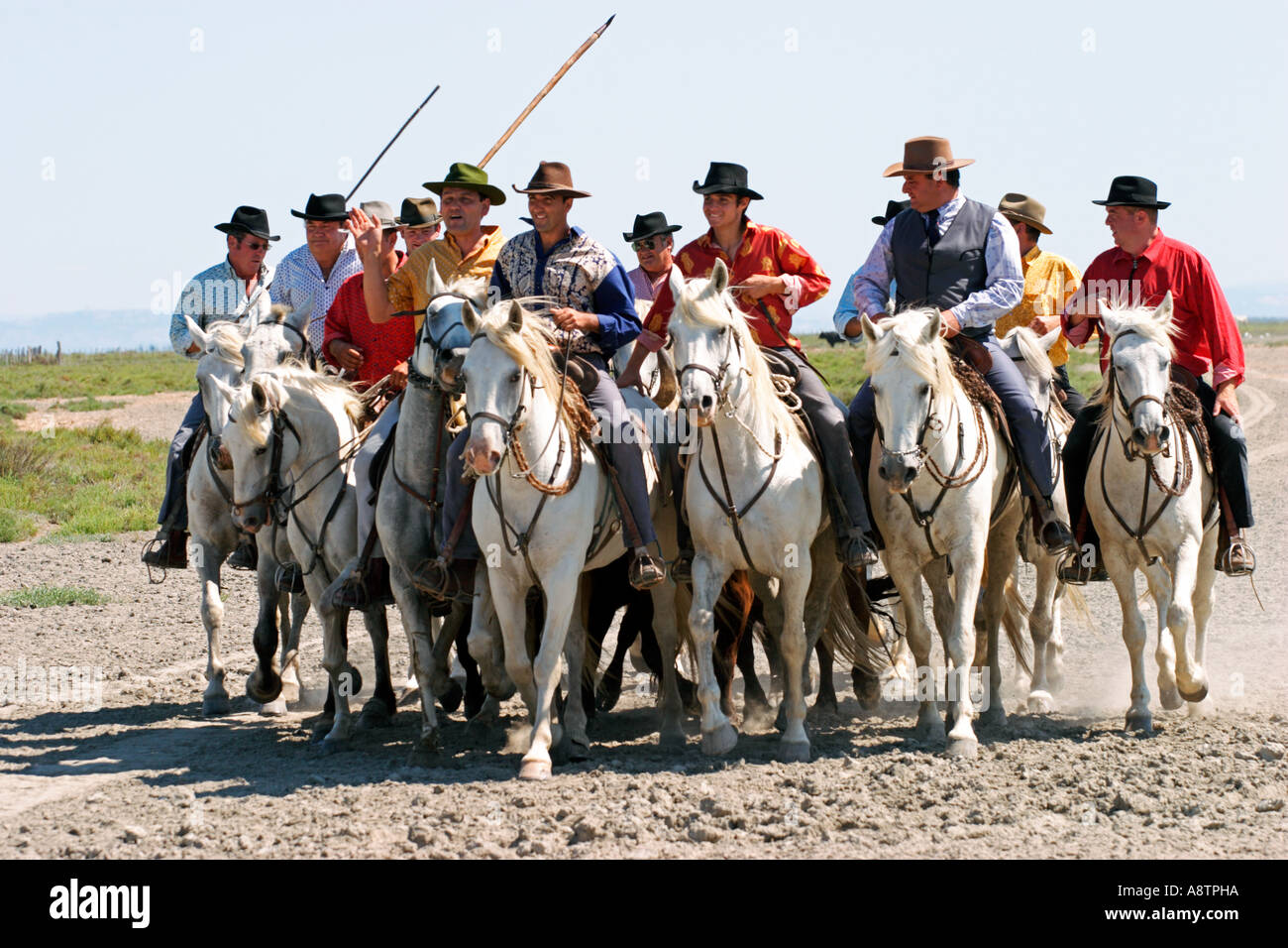 c762c4ea311 Guardians in Camargue France Stock Photo  6957209 - Alamy