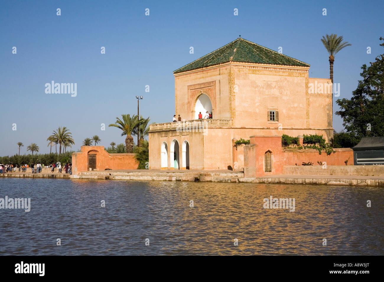 The Jardin De La Menara In Marrakech Stock Photo 12178319 Alamy