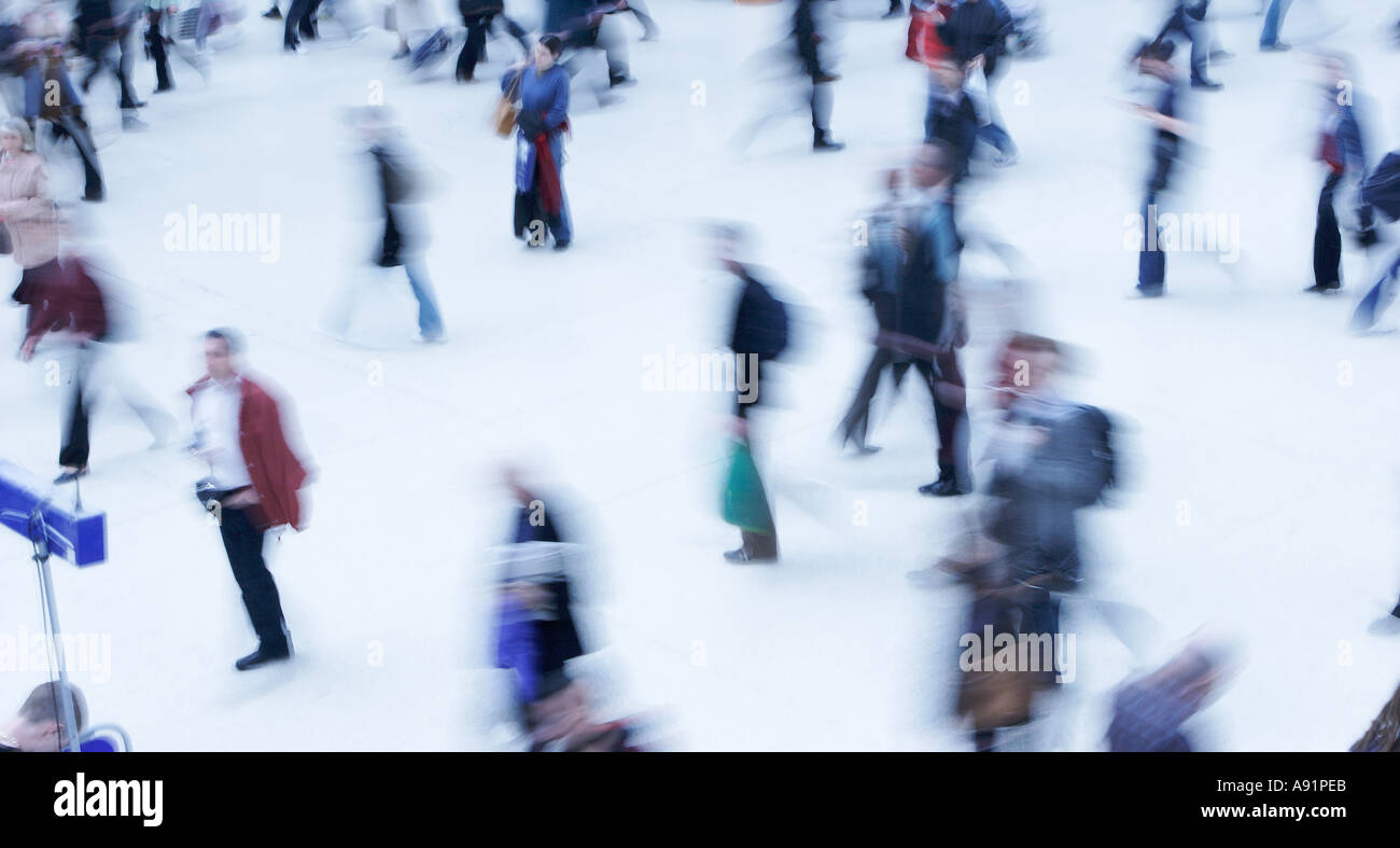 People Running From Work