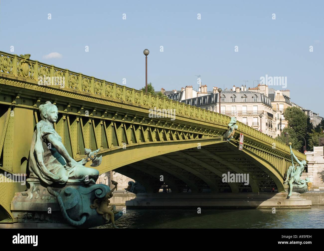 Paris, France, Pont Mirabeau bridge - Stock Image