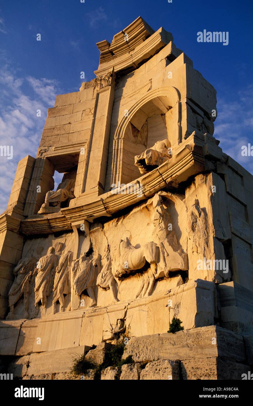 Greece, Athens, Filopappos Monument Stock Photo