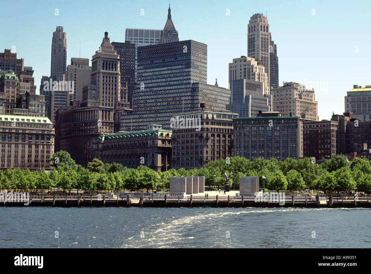 Lower Manhattan Battery New York City about 1960 Stock Photo