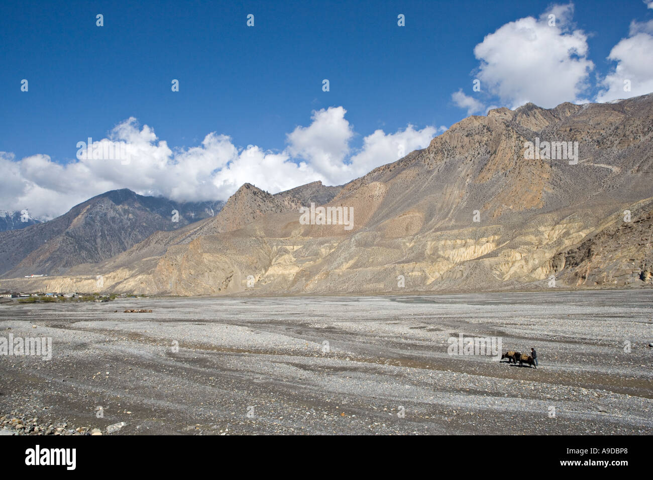 Annapurna circuit trek in Nepal - Stock Image