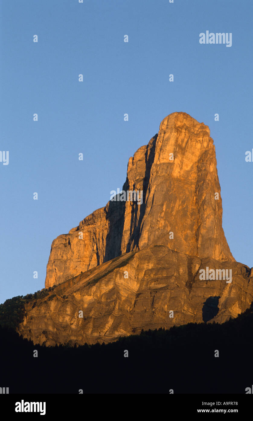 Mont Aiguille, table mountain, France, Rhne-Alpes. - Stock Image