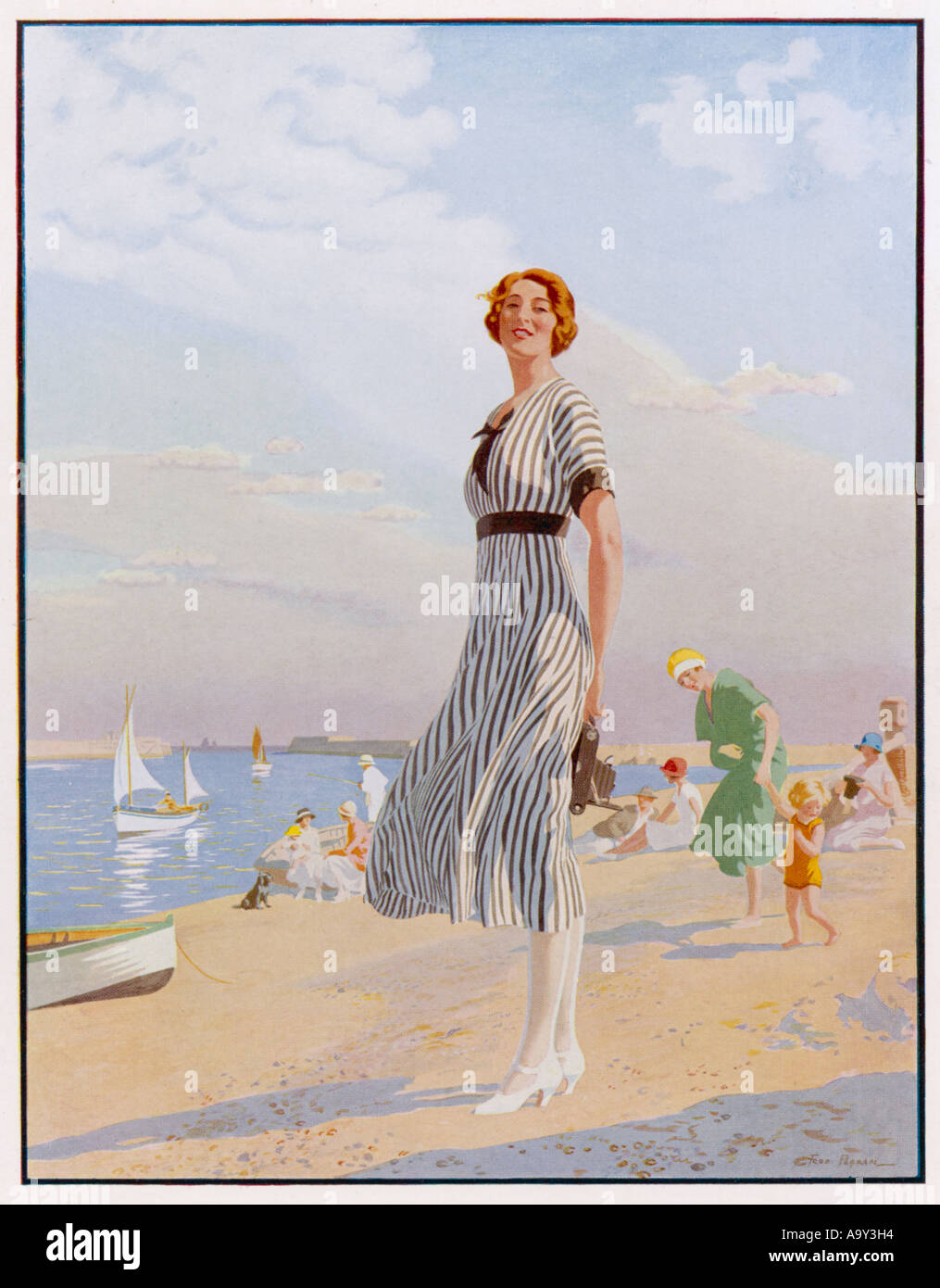Advert Kodak Girl 1920s Stock Photo