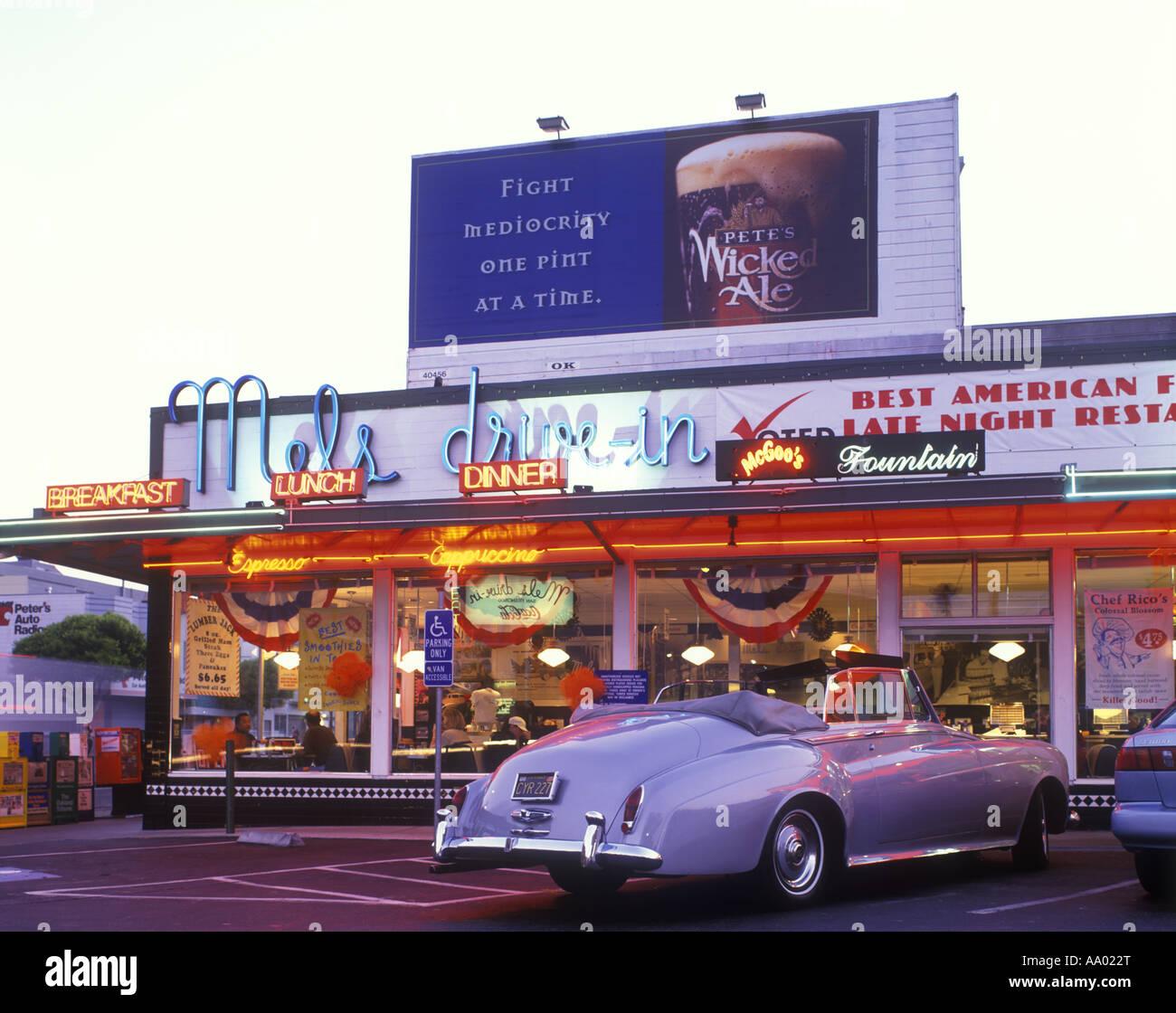 Street Scene Mels Drive In Diner Lombard Street San Francisco California Usa